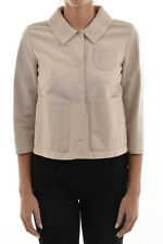 DROME New Woman Beige 100% Leather Button Closure Jacket Coat Size S Italy Made