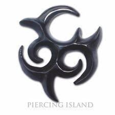 6mm Sichel Horn Flesh Tunnel Plug Ohr Ear Piercing 105