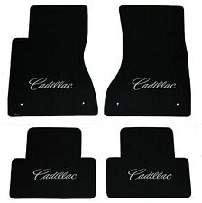 NEW! BLACK FLOOR Mats 2003-2007 Cadillac CTS Silver Script Embroidery Silver All