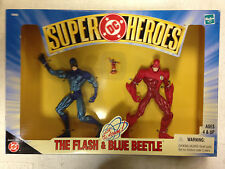 1999 HASBRO DC SUPER HEROES THE FLASH BLUE BEETLE THE ATOM FIGURE BOXED SET D29