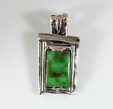 "Unique Kings ""EMERALD"" Turquoise Necklace 14kt Sterling Handmade Jewelry"