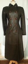 Vintage Gianni Versace Brown 100% Leather Coat Sz 2