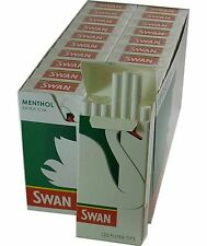Swan Precut Menthol Extra Slim Filter Tips Full Box Of 20 X 120 Free P&P