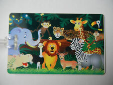 Kids Zoo Animals Bag Tag / Luggage Tag / Diaper Bag Tag w/Your info Printed.