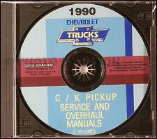1990 Chevy CK Pickup Overhaul and Shop Manuals on CD Truck Service Chevrolet
