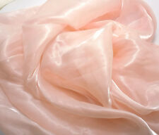 K10 PER METER Light Pink Mirror Organza Sheer Fabric Dress/Decorative Material