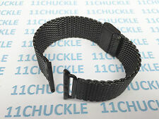 Black Stainless Steel Mesh Milanese Watch Strap + Adapter For Apple Watch 38mm