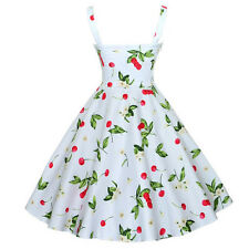 Maggie Tang 50s VTG Hepburn Rockabilly Cherry Pinup Party Swing Dress Clothing