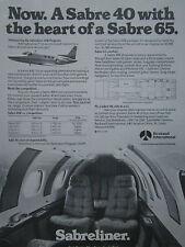 9/1981 PUB ROCKWELL SABRELINER BUSINESS JET SABRE 40 SABRE 65 ORIGINAL AD