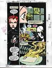 1993 Moon Knight 50 Marvel Comics color guide art page:Avengers Thor/Black Widow