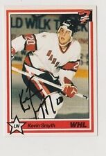 1991 7th Inning Stretch Kevin Smyth Moose Jaw Warriors Autographed Card