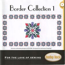"""Baby Lock Embroidery Machine Sewing Design CD: """"Border Collection 1"""" .PES Format"""