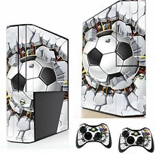 Football Breaking Wall Sticker/Skin xbox 360e Console & Remote controller xsk17