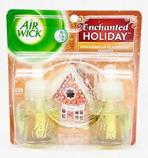 2 REFILLS Air Wick GINGERBREAD PLAYHOUSE Scented Oil Plug In Refill Holiday