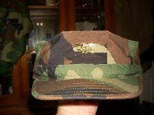 8 POINT COVER HAT WOODLAND SEAL / UDT  PIN  US Navy SIZE X LARGE  NEW