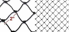 "2"" Square Mesh Size, Net Netting for Bird Poultry Aviary Game Pens 50ft x 100ft"