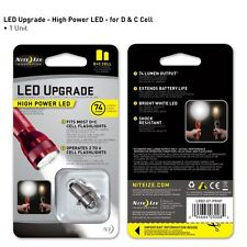 1 WATT C and D CELL MAGLITE FLASHLIGHT LED UPGRADE BULB 74 LUMENS NITE IZE NEW