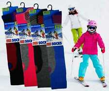 Kids Childs Boys Girls  ski Boot Socks Soft Thermal Padded Long Length.