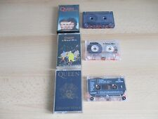 QUEEN - 3 X CASSETTE TAPES – GREATEST HITS 2 / A KIND OF MAGIC / THE MIRACLE