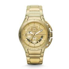 BRAND NEW ARMANI EXCHANGE AX1407 GOLD STAINLESS STEEL CHRONOGRAPH MEN'S WATCH