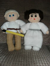 STAR WARS INSPIRED LEIA& LUKE **TOY KNITTING PATTERNS ONLY ** 10 INS