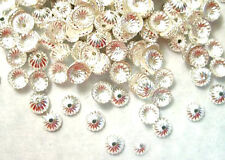 1000 Silver Plated Fluted Bead Caps 5MM