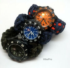550 Paracord custom WatchBand Replacement FOR all luminox diver invicta citizen