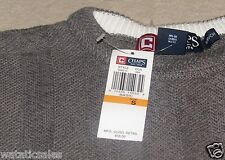 CHAPS Men's 100% Cotton Knit Sweater Gray size Small New with tags