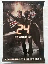 24 LIVE ANOTHER DAY 13.5x20 Original Promo TV Poster SDCC 2014 Kiefer Sutherland