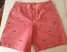 Vineyard Vines Club Shorts Nantucket Red  Embroidered Whales SZ 35