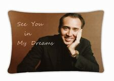 New Nicolas Cage Throw Pillow Case Cover Cushion Bed home Decor Size 30''x20''