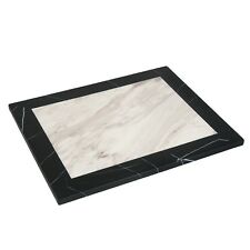 "Lot of 6 Restaurant 30x30"" Artificial Stone Black Edge Granite Table Tops"