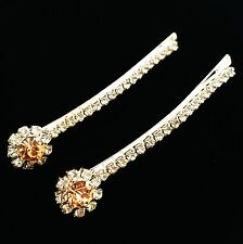 USA Quality Bobby Pin Hair Clip using Swarovski Crystal Hairpin Champagne