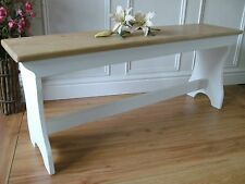 Style vintage pin bench shabby chic banc en bois