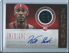 2012-13 PANINI INTRIGUE BASKETBALL WILL BARTON JERSEY AUTO ROOKIE RC