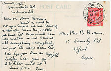 Genealogy Postcard - Family History - Braun - Cawley Road - Ilford - Essex 2878