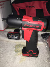 SNAP ON CORDLESS CT761A 3/8 used 1 BATTERY used 8172 TOTE BAG AND CHARGER nice