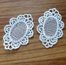 2 pcs Lace patch, applique, scrapbooking embellishment
