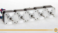 ACT Motor GmbH 5PC Nema17 17HS3404 Schrittmotor 0.4A 34mm 2800g.cm 3D Drucker