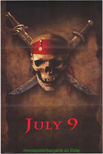 PIRATES OF THE CARIBBEAN MOVIE POSTER Original Advance Wilding1sheet JOHNNY DEPP