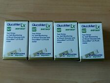 4 Boxes Of Glucomen Lx Sensor Blood Glucose Test Strips 200 In Total New ex08/17