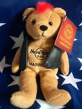 HRC Hard Rock Cafe Marbella Punk Bear Mohawk 2011 Red Hair Herrington