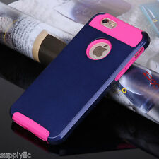 Hybrid Shockproof Hard&Soft Rugged Rubber Back Cover Case For Apple iPhone 6s 6