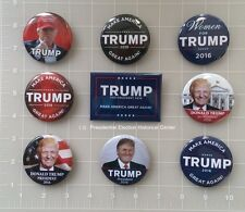 Donald Trump Set of 9 Best Seller Campaign Buttons - Buttons measure 2.25""