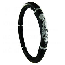 Brand New White Skull Barb Wire Universal Fit Car Truck Steering Wheel Cover