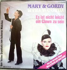 """7"""" 1983 VG++ MARY & GORDY : Es ist nicht leicht ein Clown zu sein"""