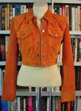 Vintage Versace  Jeans Couture Jacket  Size:  Small Orange