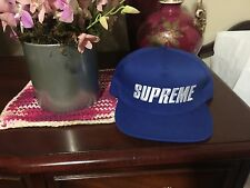 SUPREME Bar Logo 5-Panel Royal box logo camp cap tnf cdg S/S 16