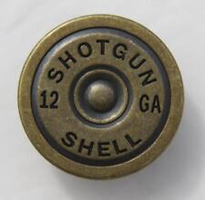 Shotgun 12 GA Shell Waffe Gewehr Patrone Fake Druckknopf Knopf Snap Metall