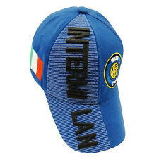 INTER MILAN BLUE COUNTRY FLAG FIFA SOCCER WORLD CUP EMBOSSED HAT CAP .. NEW